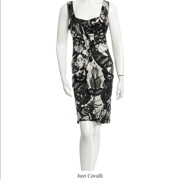 14aa54f7d60e Just Cavalli Dresses | Lace Print Dress Sz 44 | Poshmark